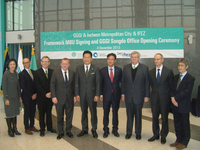 The Global Green Growth Institute (GGGI) opened its Songdo liaison office on Wednesday, December 4. (PRNewsFoto/Global Green Growth Institute) (PRNewsFoto/GLOBAL GREEN GROWTH INSTITUTE)