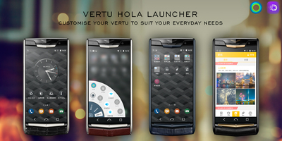 "Vertu's New Signature Touch smartphone powered by a custom Hola Launcher's interface includes the latter's unique ""Shine"" feature allowing convenient one-handed operation of the device."
