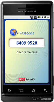 RSA SecurID Software Token for Android.  (PRNewsFoto/EMC Corporation)