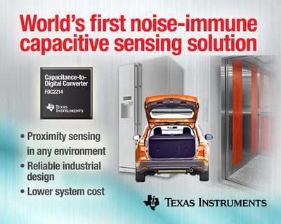 TI revolutionizes capacitive sensing with world's only noise-immune solution