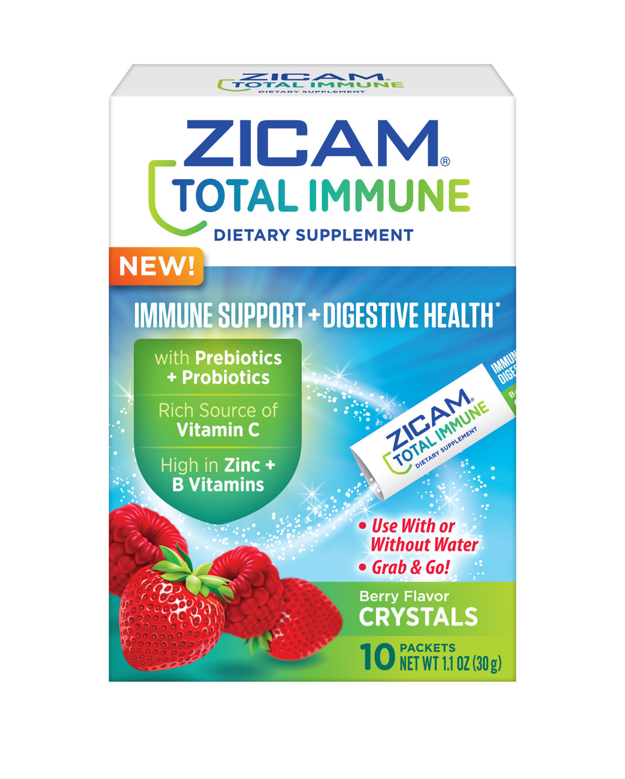 Zicam(R) Total Immune + Digestive Health Berry Crystals