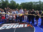 Nancy Lieberman Charities, WorldVentures Foundation and Fairway Mortgage cut the ribbon on the new DreamCourt gifted to the city of Portage, Wisc.