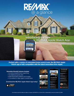RE/MAX introduces Apple Watch App