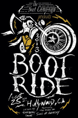 """3rd Annual Boot Ride and Rally August 25, 2013 in Los Angeles, CA. Featuring cast from FX's """"Sons of Anarchy"""" to benefit military through the national nonprofit, The Boot Campaign."""