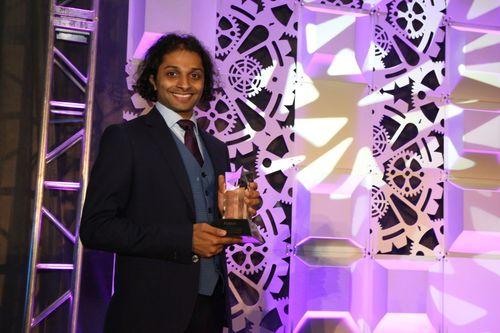 Sandeep Jain receiving his companyâeuro(TM)s prestigious CETI award from Fiatech at their Technology Conference and Showcase in Boca Raton, Florida. April 2015 (PRNewsFoto/COMIT)