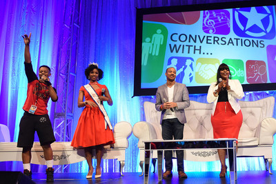 Celebrity Panel at Disney Dreamers Academy L-R: Singer and rapper Silento, Miss Black USA 2015 Madison Gibbs, entrepreneur and motivational speaker Jaylen Bledsoe, and actress Brely Evans participate in a panel discussion March 5, 2016 during Disney's Dreamers Academy with Steve Harvey and Essence Magazine at Epcot in Lake Buena Vista, Fla. The ninth annual event, taking place March 3-6, 2016, is a career-inspiration program for distinguished high school students from across the U.S. (Todd Anderson...