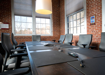 Natural light fills Interactions' Board Room.
