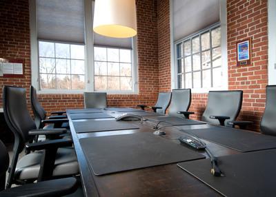Natural light fills Interactions' Board Room.