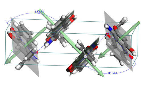 Angles calculated between best-fit planes for Disperse Red dye give quantitative information on crystal ...