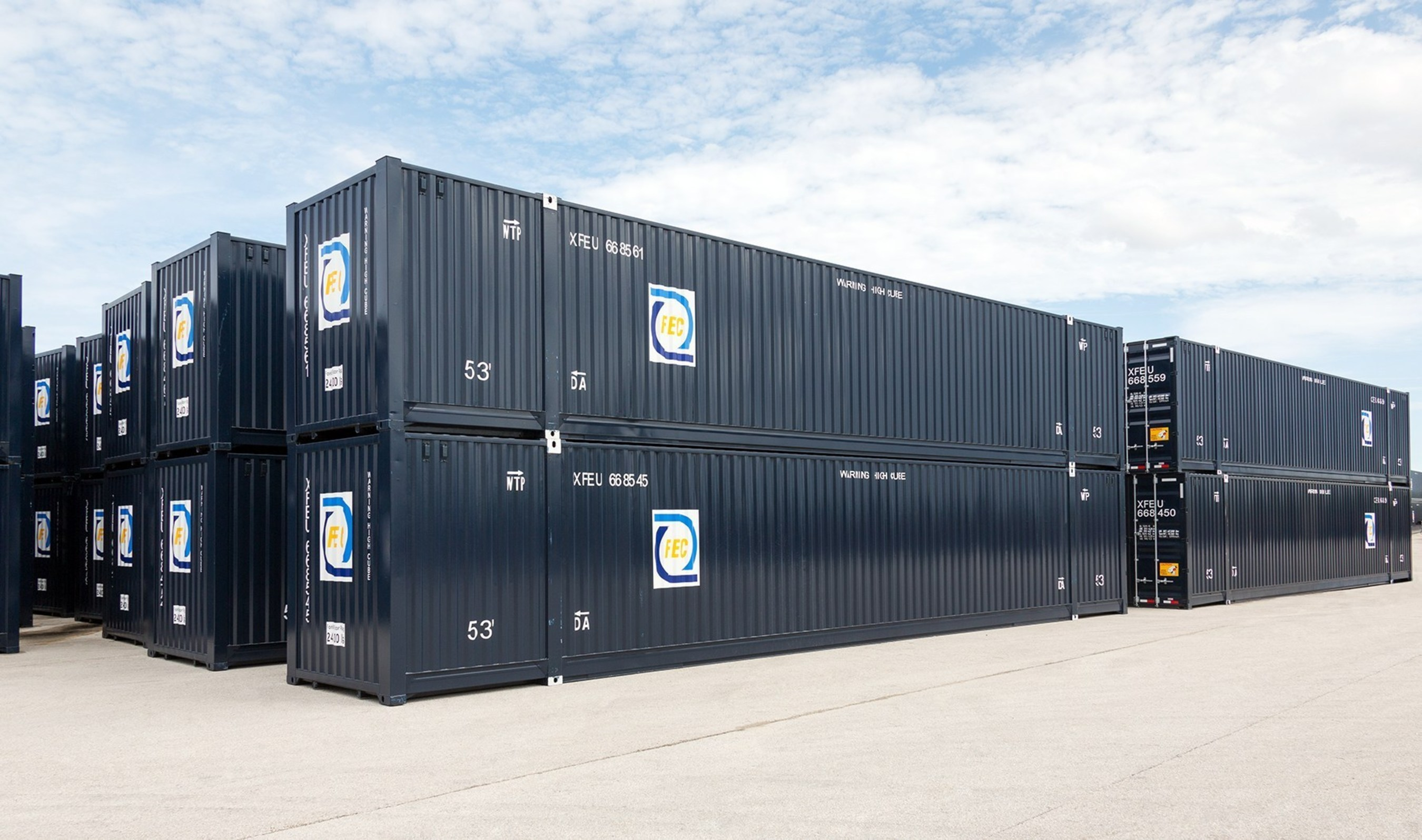 FECR has added 500 new 53' containers to its intermodal capacity. (PRNewsFoto/Florida East Coast Railway, LLC)