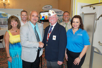 Amvets and premier care in bathing announce recipient of for Premier care bathrooms