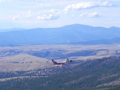 Global SuperTanker's Spirit of John Muir flies over Washington