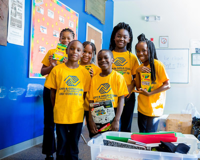 Youth from Boys & Girls Clubs in Philadelphia receive back to school supplies, thanks to Boys & Girls Clubs of America's Back2School Stuff the Bus campaign.