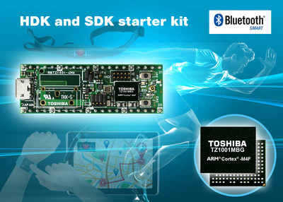 Toshiba now offers hardware and software development kits for the Toshiba TZ1000 Application Processor Lite (ApP Lite [TM]) series of processors for wearable and IoT devices.