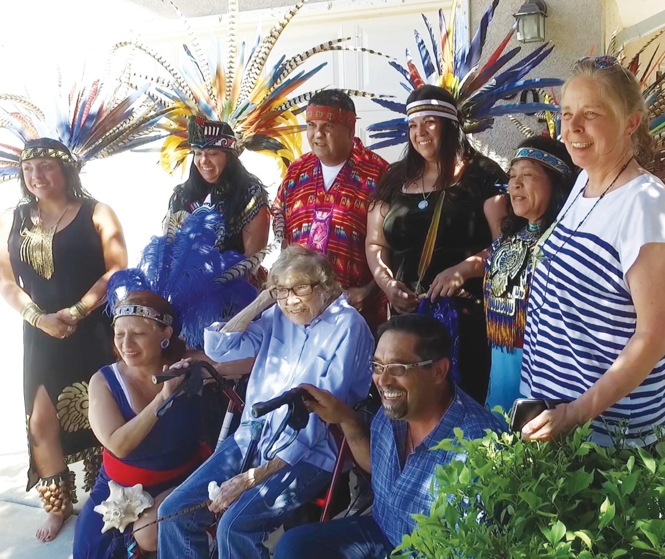 Sangre de Cristo Hospice organized a very special celebration for their patient, Gloria Maestas.