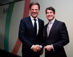 Dutch Prime Minister Mark Rutte, ICL President & CEO Stefan Borgas. Credit: Roy Borghouts