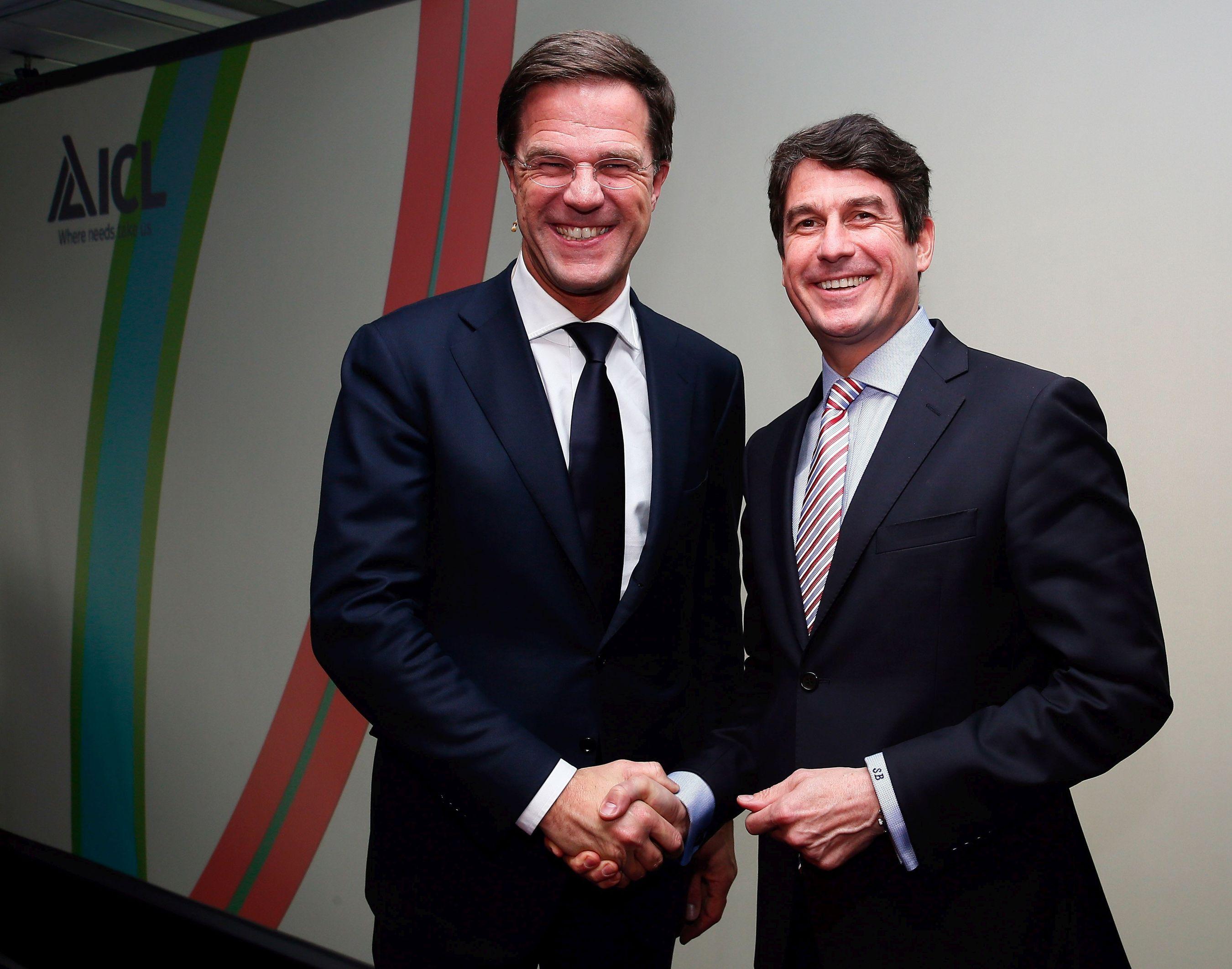 Dutch Prime Minister Mark Rutte, ICL President & CEO Stefan Borgas. Credit: Roy Borghouts (PRNewsFoto/ICL)