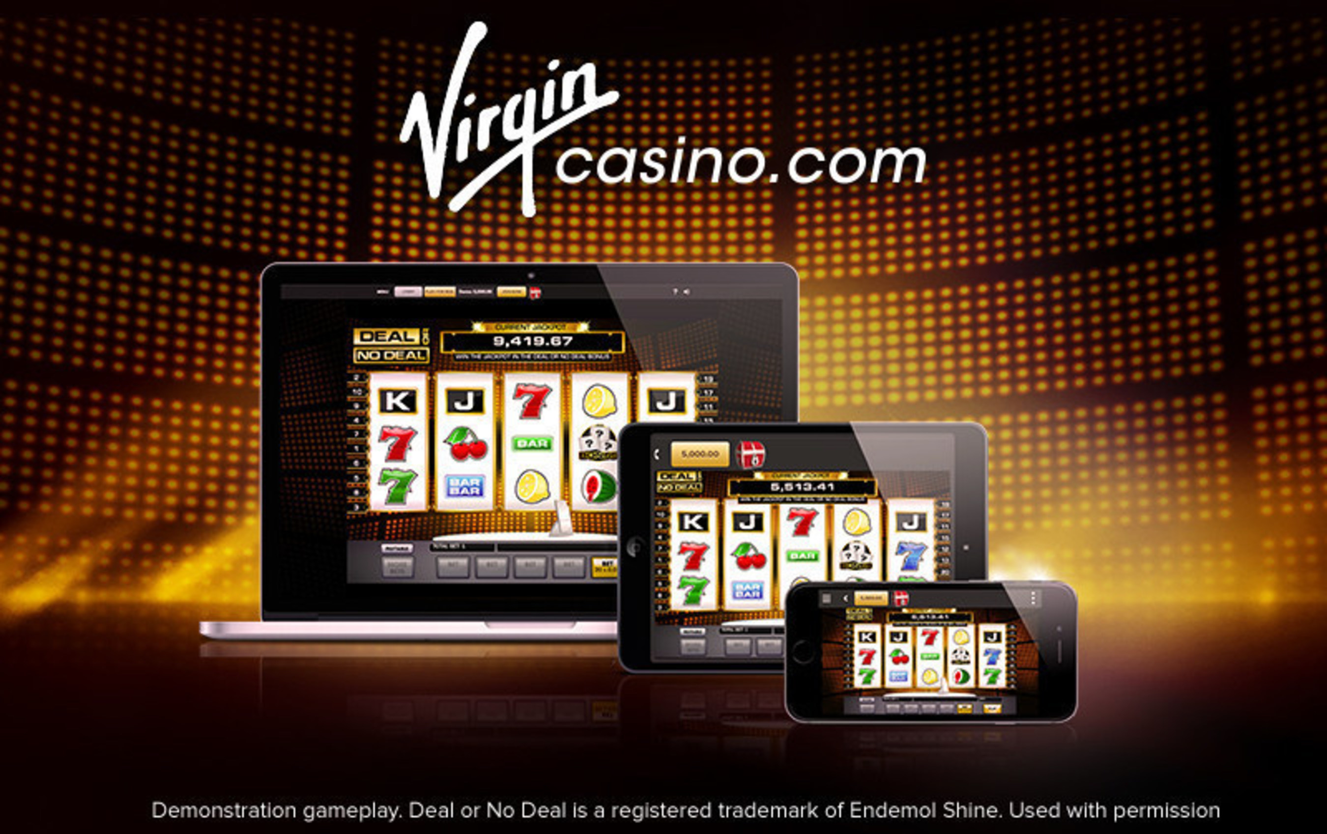 The Deal or No Deal real money slot game available exclusively on VirginCasino.com.