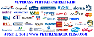 Virtual Career Fair connects employers with servicemembers, veterans, and military spouses. More than 71,000 hired since September 2011. No need to travel to the career fair, we will bring the career fair to you! (PRNewsFoto/Veteran Recruiting)