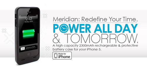 LENMAR Meridian iPhone 5 Battery Case - Order Yours Today. www.lenmar.com. (PRNewsFoto/Lenmar Enterprises, Inc.)
