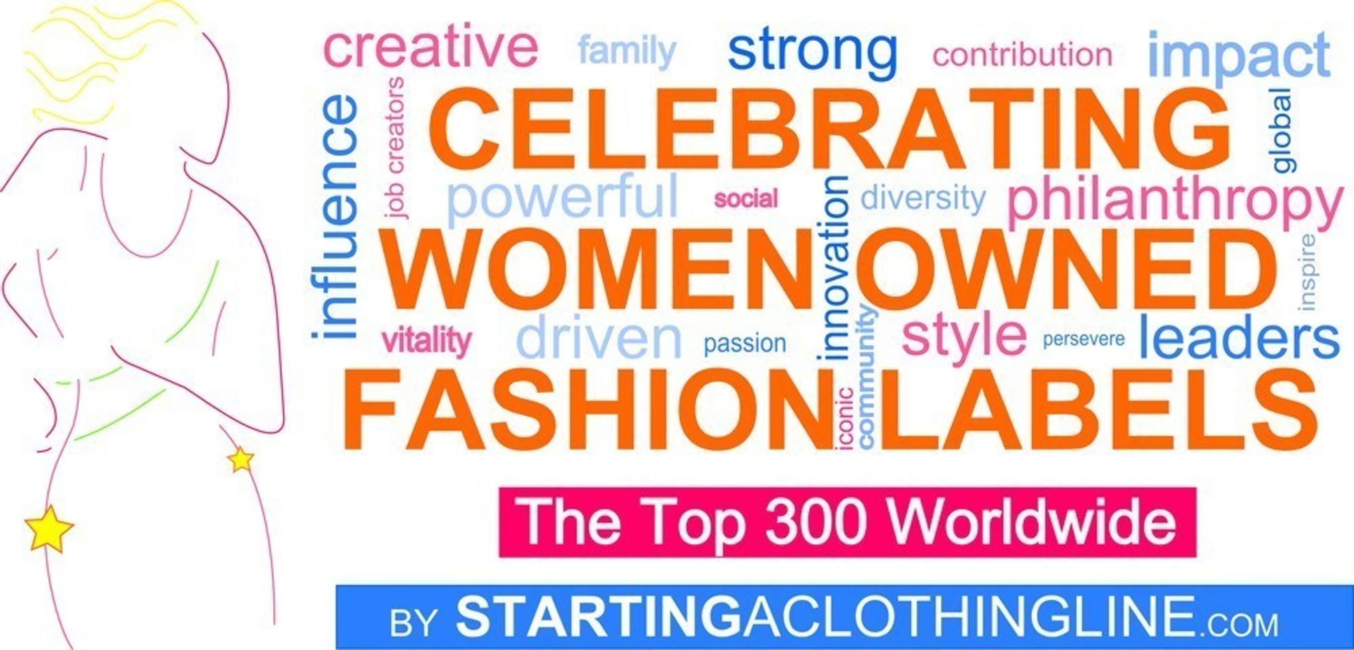 StartingAClothingLine.com Celebrates Women Owned Fashion Labels