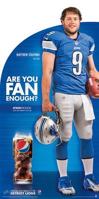 Pepsi POS Image with Detroit Lions QB Matt Stafford.  (PRNewsFoto/PepsiCo)