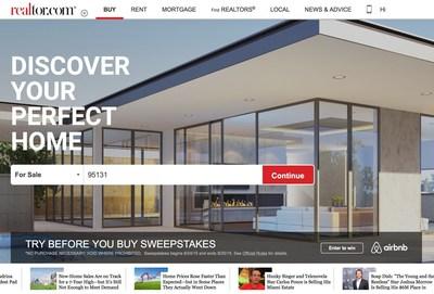 Realtor.com Homepage