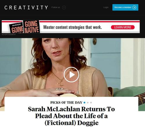 Revamped creativity-online.com. (PRNewsFoto/Advertising Age) (PRNewsFoto/ADVERTISING AGE)