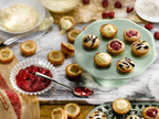 "Add Southern Corn Meal Cookie Tartlets to your list of ""go to"" recipes this Valentine's Day.  (PRNewsFoto/Martha White)"