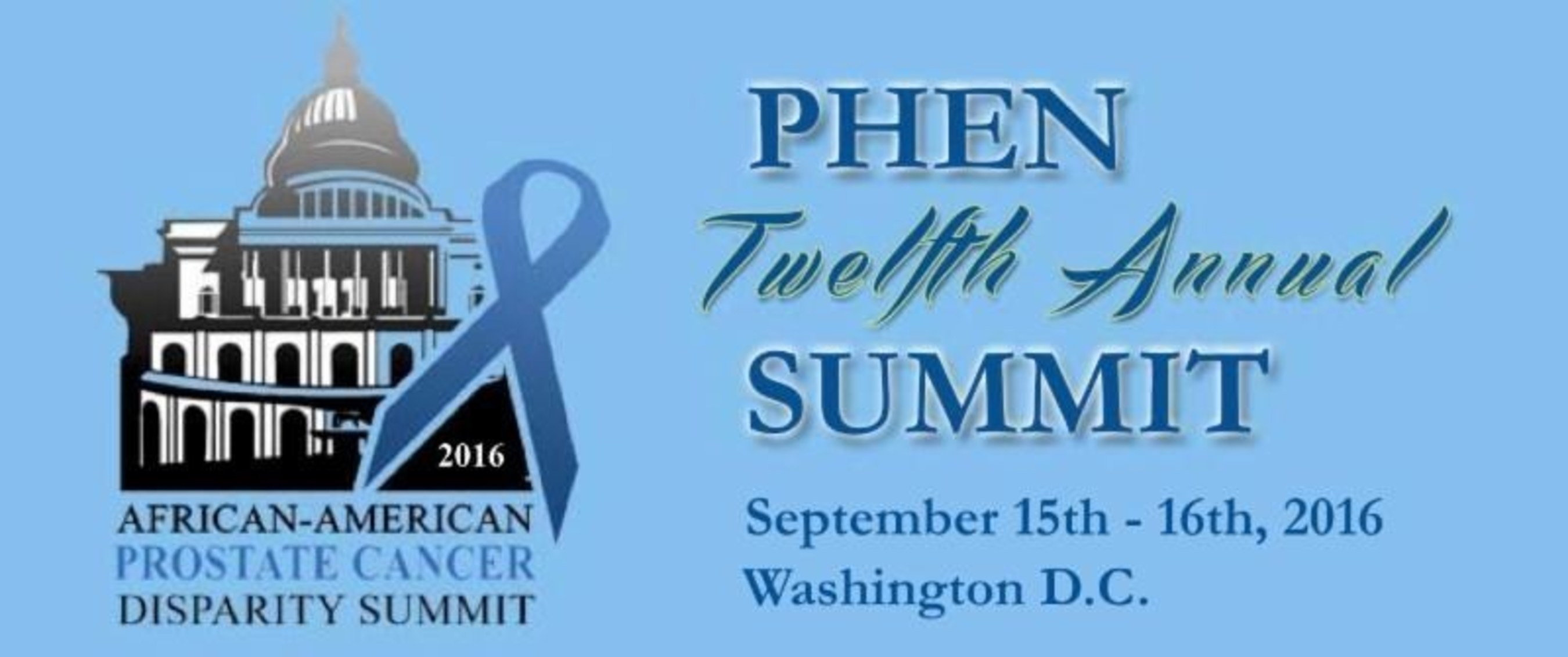 African American Prostate Cancer Disparity Summit Takes Place in Washington, DC, September 15-16, 2016