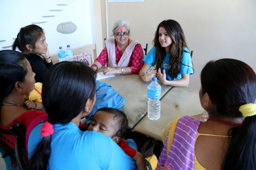 UNICEF Ambassador, Selena Gomez met with female adolescents who had been recruited into the armed conflict that ended eight years ago in Nepal. She learned of their experiences and the support services that UNICEF has provided to them to build a better future. Photo Credit: Courtesy of U.S. Fund for UNICEF/Josh Estey/MatiHati (PRNewsFoto/U.S. Fund for UNICEF)