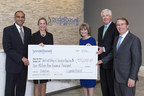Bob Patel, LyondellBasell CEO, and Jackie Wolf, LyondellBasell senior vice president and chief human resources officer, present a check for $1.9 million to Ana Babin, United Way of Greater Houston president and CEO, David McClanahan, United Way campaign chair, and Marc Watts, United Way board chair, on Tuesday, March 22, 2016 in Houston. LyondellBasell has more than 4,000 employees in the greater Houston area and is one of the top corporate contributors to the United Way.