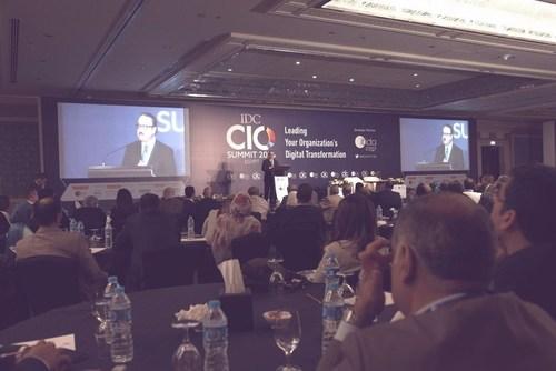 Egyptian ICT Minister addressing the gathering at IDC Egypt CIO Summit (PRNewsFoto/International Data Corporation)