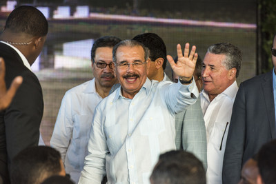 President of the Dominican Republic, Danilo Medina, led the opening ceremonies during the inaugural event at the Tourism and Landscape Park of La Puntilla and Puerto Plata Amphitheater Thursday, July 14.