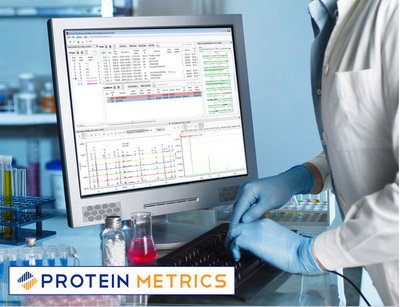 Protein Metrics Byomap(TM) software, developed in close collaboration with biopharmaceutical researchers, facilitates quick annotation of peptide maps and rapid, quantitative comparison of multiple data traces against a reference material.  (PRNewsFoto/Protein Metrics, Inc.)