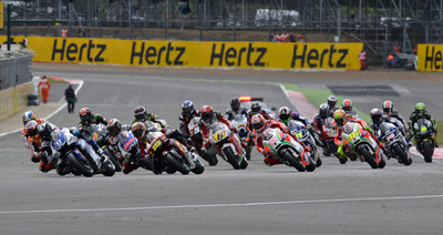 Hertz has today been announced as the official title sponsor for the 2013 British MotoGP(TM). for the second year in a row.  The British edition of the premier motorcycle racing world championship will be held at Silverstone from August 30th to September 1st. The partnership provides significant media exposure for Hertz, including branding on the hotly anticipated new-to-MotoGP circuit in Austin, Texas.  (PRNewsFoto/The Hertz Corporation)
