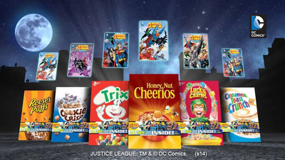 Exclusive DC Comics Now Available in Select Boxes of General Mills Cereals for a Limited Time Only
