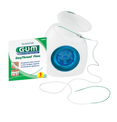 Sunstar GUM(R) Announces the Launch of EasyThread(TM) Floss Designed to Improve Flossing Habits for Patients with Unique Oral Care Needs.  (PRNewsFoto/Sunstar Americas, Inc.)