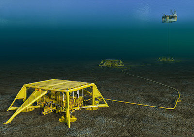 IBM is teaming with Statoil, Kongsberg Group and DNV to develop an environmental monitoring system for oil and gas activities. This is an image of subsea operations at Statoil's Vega Field. (Photo: Statoil) (PRNewsFoto/IBM Corporation)