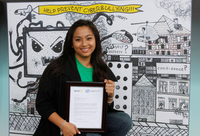 ATLANTA- Boys & Girls Club teen Alexis Cabero received top honors for her poster submission on cyberbullying in Sprint's Media Safety Poster Contest. More than 700 entries were received from teens nationwide and the winning poster will be sent to some 4,000 Boys & Girls Clubs worldwide. (Source: Boys & Girls Clubs of America)