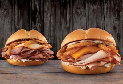 Arby's Smokehouse Brisket Sandwich and Smokehouse Turkey Sandwich