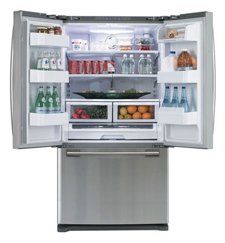 The Samsung RF263AERS French Door Refrigerator.  (PRNewsFoto/10rate)
