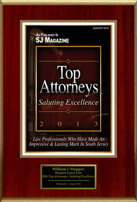"""William J. Stopper Selected For """"2013 Top Attorneys - Saluting Excellence"""".  (PRNewsFoto/American Registry)"""