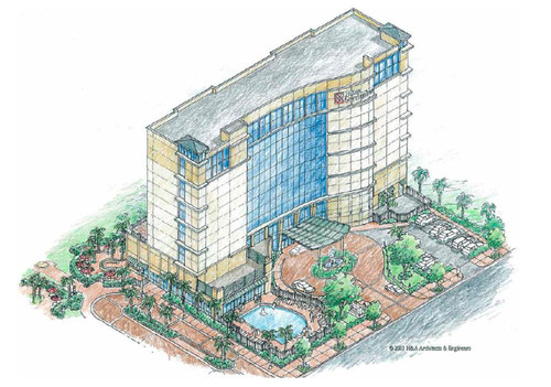 Virginia Beach Hilton Garden Inn Concept Rendering.  (PRNewsFoto/Gold Key|PHR Hotels and Resorts)