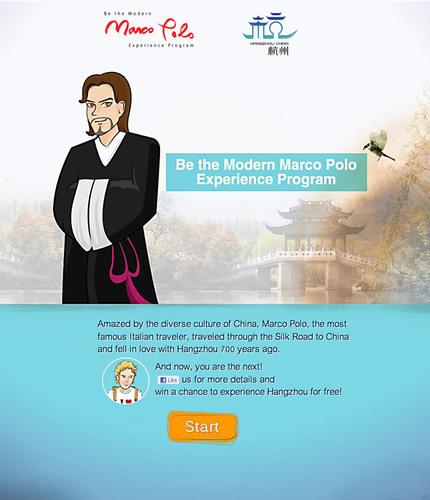 Be the Modern Marco Polo Experience Program. (PRNewsFoto/Hangzhou Tourism Commission) (PRNewsFoto/HANGZHOU TOURISM COMMISSION)