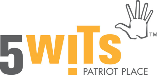 Wits Patriot Place logo. (PRNewsFoto/5 Wits Patriot Place): http://www.prnewswire.com/news-releases/new-interactive-adventure-opening-at-patriot-place-117269503.html