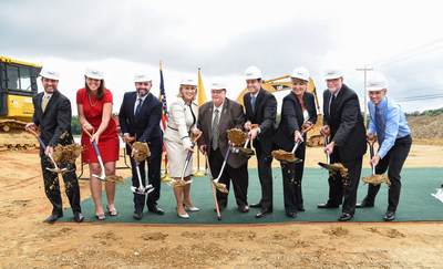 Photo of Groundbreaking: New Jersey LT Governor Kim Guadagno joins members of the Teligent Management Team and Buena Vista Mayor as the company marks progress on the facility expansion in Buena, NJ. Credit: Dave Griffin