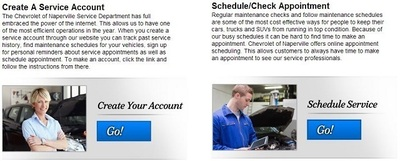 Scheduling or confirming a service appointment at Chevrolet of Naperville is only a click a way on the new service portal webpage that was recently launched. (PRNewsFoto/Chevrolet of Naperville)
