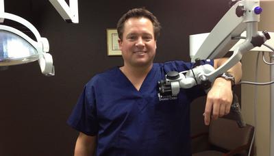 Brian Haymore at his dental practice. (PRNewsFoto/Haymore Endodontics)