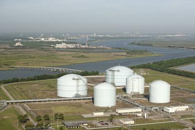 Storage facilities at Kinder Morgan's Elba Island location, site of LNG expansion project.  Photo credit: Kinder Morgan